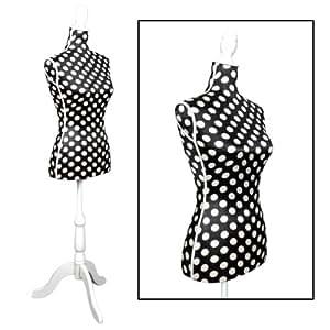 mannequin de couture taille 36 38 en noir et blanc pois cuisine maison. Black Bedroom Furniture Sets. Home Design Ideas