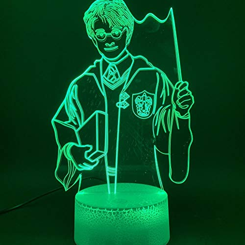 Lámpara 3D The Magic Boy Harry Potter Figura Ilusión