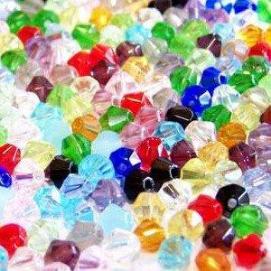 100pièces 6mm Perles Toupies en verre