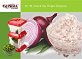 Capital stainless steel Onion chopper & Vegetable chopper Quick Cutter with stainless steel Rotating Blade for fine chopping