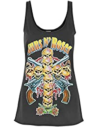 Amplified Guns N Roses Neon Skull Cross Women's Vest