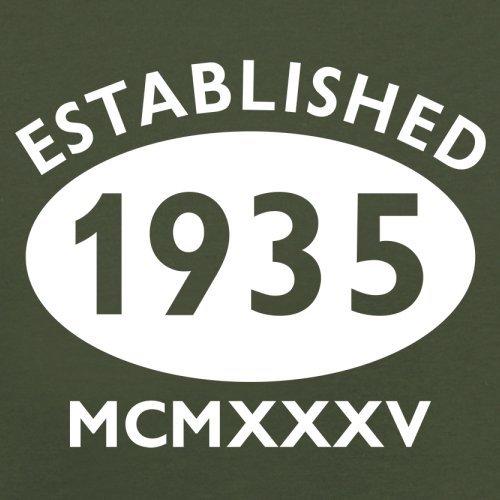 Gegründet 1935 Römische Ziffern - 82 Geburtstag - Herren T-Shirt - 13 Farben Olivgrün