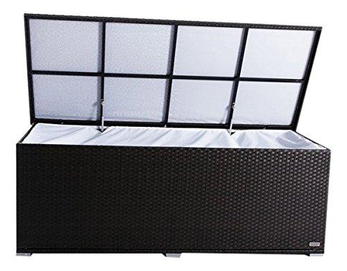 Outflexx Kissenbox, Polyrattan, hellbraun, 204 x 94 x 75 cm