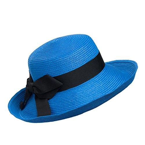 signora modo cappello del sole cappello da sole spiaggia contro i raggi UV , (Signore Blu Visor)