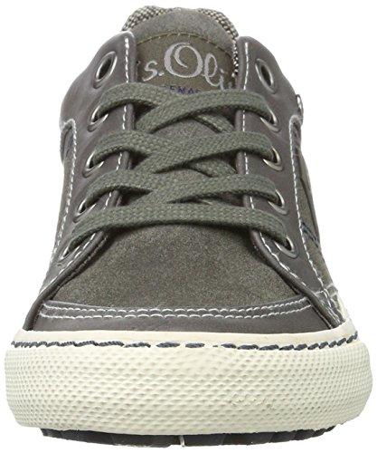 s.Oliver - 43100, Pantofole Bambino Grigio (Grey)