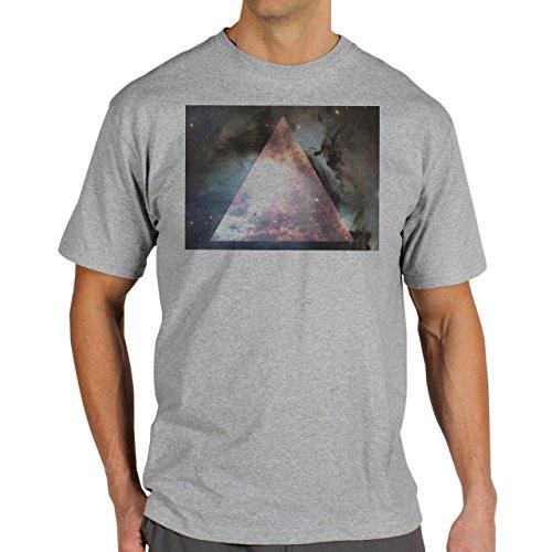 Illuminati Triangle Art Majestic Space Square Triangle Background Herren T-Shirt Grau