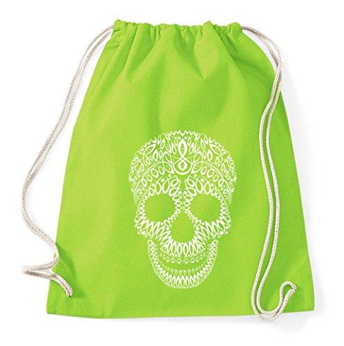 Skull Tête de Mort Gym Bag Sac de gym Sac à dos sport Hipster style en 0c1d3ad1a92