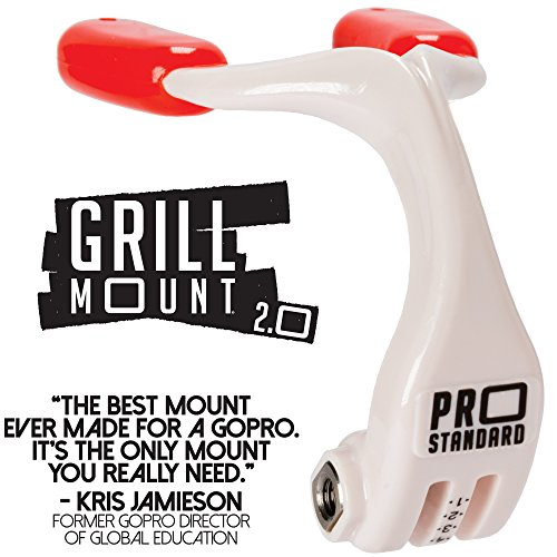 Pro Standard Grill Mount 2.0 - The Best Mouth Mount for GoPro Cameras -