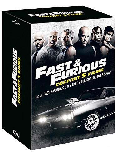 Coffret fast and furious 5 films : fast and furious 5 à 8 ; hobbs and shaw [FR Import]