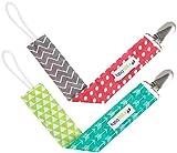 Ziggy Baby Pacifier Clip Set, Multicolor, 2 Pack