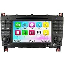 ancluu coche DVD GPS navegación para Mercedes/Benz Clase C W2032004–2007C200C230C240C320C350CLK W2092005unidad central Radio 3G BT Mapa
