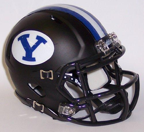 BYU Cougar schwarz matt Riddell Speed Mini Football Helm