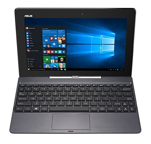 "ASUS H100TAF-BING-DK007B - Portátil de 10.1"" (Intel Atom Z3735G, 1 GB de RAM, Disco eMMC 32 GB SSD, Intel HD Graphics, Windows 8 ) - Teclado QWERTY Español"