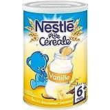 Nestlé Bébé P'tite Céréale Vanille - Céréales Déshydratées dès 6 Mois - Boîte de 400g - Lot de 4