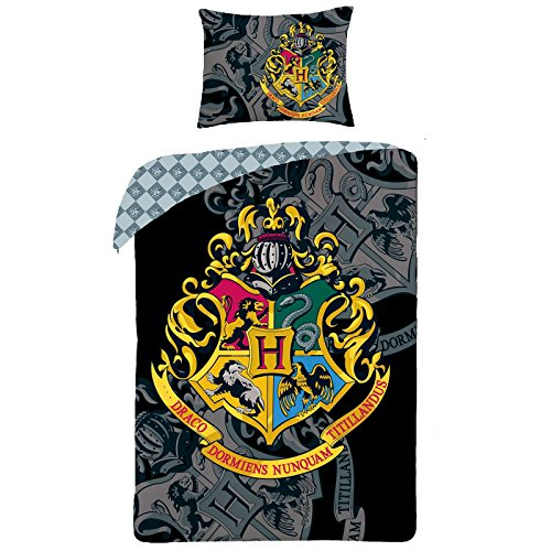 Harry Potter Crest Single Duvet Set