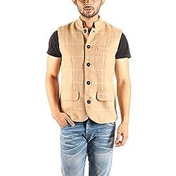 Owncraft Mens Beige Wool Nehru Jacket 5