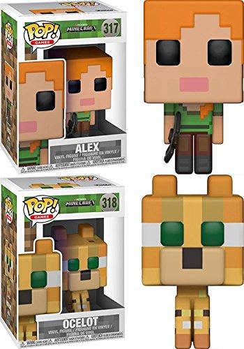 Funko POP! Minecraft: Alex + Ocelot – Stylized Video Game Vinyl Figure Set NEW