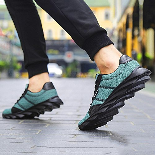 Uomo moda traspirante maglia panno casual sport scarpe autunno leggero antiscivolo sneaker semplice moda e comodo da indossare Blue
