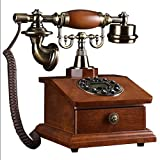 ZfgG Europäische Retro Rotary Telefon Mode Kreative Antike Massivholz Telefon Hause Drahtlose Festnetz Büro Telefon