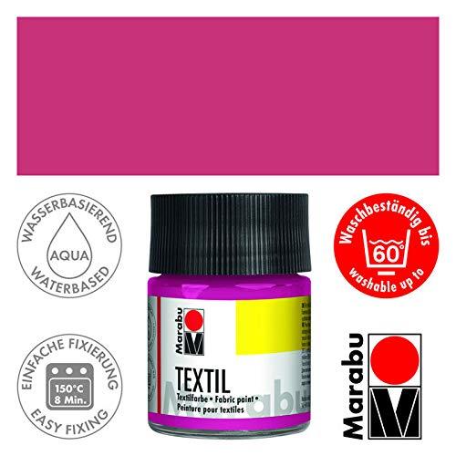 CREATIV DISCOUNT Textil- und Stoffmalfarbe 50 ml Himbeere -