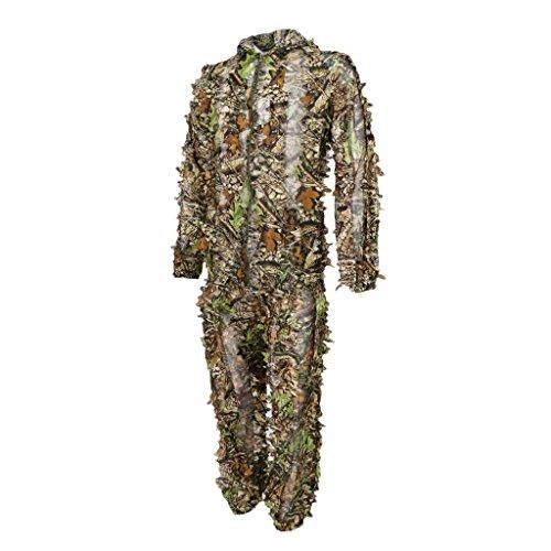 dschungel kleidung Homyl Tarnanzug Ghillie Anzug Dschungel Camouflage Kleidung Kapuzenjacke und Hose