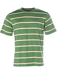 Signum Herren Kurzarm Shirt T-Shirt Rundhals Streifen