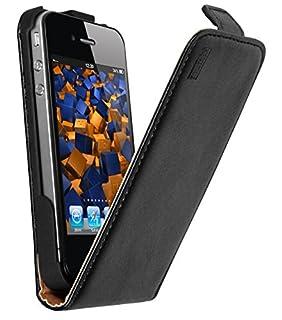 mumbi Echt Leder Flip Case kompatibel mit iPhone 4 / 4S Hülle Leder Tasche Case Wallet, schwarz (B003VRRPS4) | Amazon price tracker / tracking, Amazon price history charts, Amazon price watches, Amazon price drop alerts