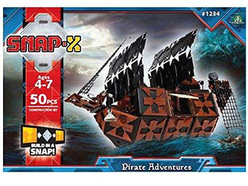 Snapx 4158 - kit di costruzioni, modello: nave pirata