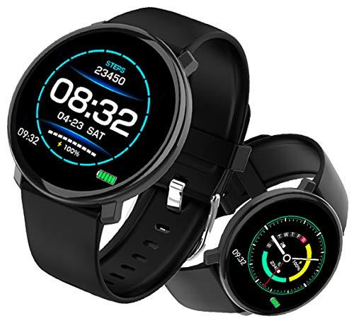 PHIPUDS Smartwatch, 1,3 Zoll Voller Touch Screen Bluetooth Smartwatch Wasserdicht IP67 Fitness Tracker Sportuhr Armband Pulsuhren Schrittzähler Herren Damen Smartwatch Kompatibel für IOS Android