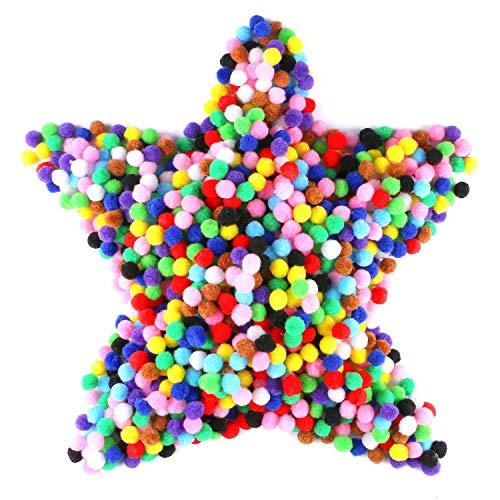 LANGING 1200 stücke Bunte Pompom bälle Flauschigen Plüsch Bälle für Lustige Kreative Handwerk -