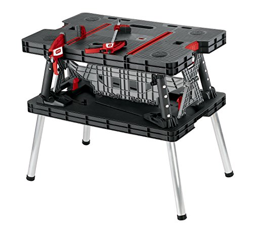 The Keter 221475 is a popular version of the Keter Corporations. Its construction has been boosted with better and more durable materials. This Folding work table create a professional working area due to its versatility. This table features sturdy legs and set up system that takes seconds. It is lightweight and heavy-duty.