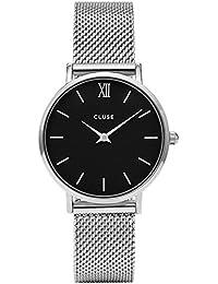 Cluse Montre Mixte Analogique avec Bracelet en Acier Inoxydable Plaqué – CL30015