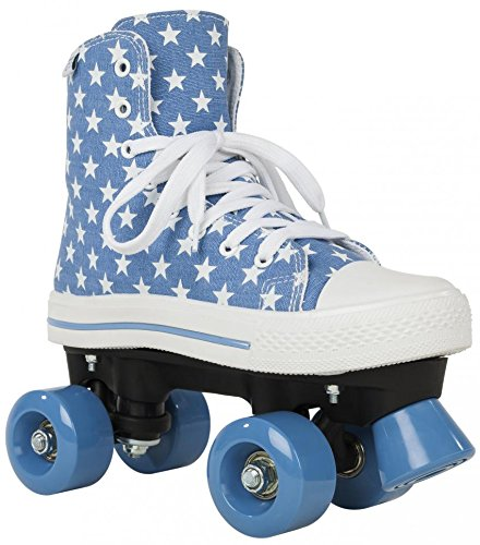 Rookie Canvas High Stars, Rollschuhe Unisex Kinder, Canvas High Stars, blau/weiß