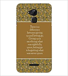 PrintDhaba Quote D-5719 Back Case Cover for COOLPAD NOTE 3 LITE (Multi-Coloured)