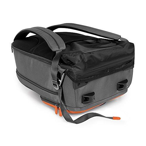 Giorgio Fedon Cuir Nylon trolley sac à dos. bagage à main (orange / gris) noir / gris