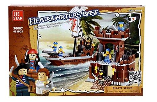 Planet Of Toys Headquarters Base Building Blocks Set (431 Pcs) For Kids / Children