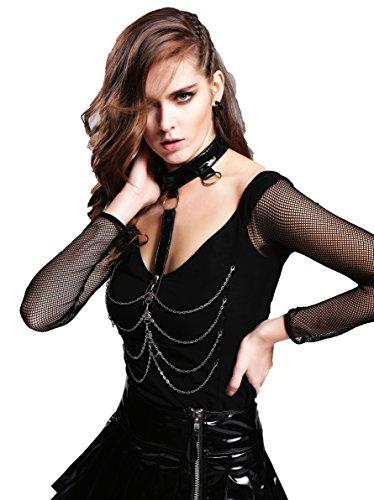 Devil Fashion Damen T-Shirt Medium Schwarz