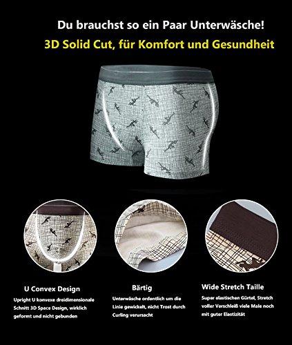VENI MASEE® Sexy Modal Atmungsaktive Herren Boxer Shorts Unterwäsche Trunks Mehrfarbig08