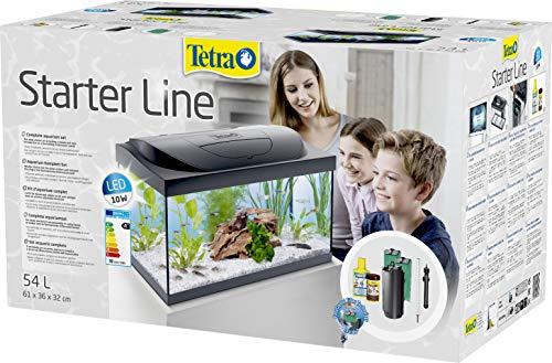 Tetra Starter Line Aquarium-Komplettset mit LED-Beleuchtung stabiles 54 Liter Einsteigerbecken mit Technik, Futter und Pflegemitteln - 4