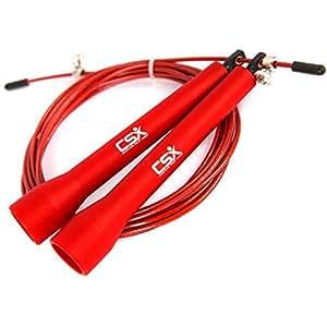 corde sauter de vitesse csx rouge 280 300 cm corde sauter r glable avec roulements. Black Bedroom Furniture Sets. Home Design Ideas