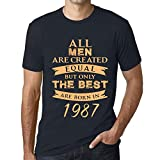 Photo de Homme Tee Vintage T Shirt Born in 1987 French Marine par One in the City