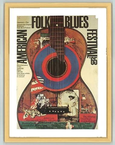 American Folk Blues Festival 1965Cadre en pin