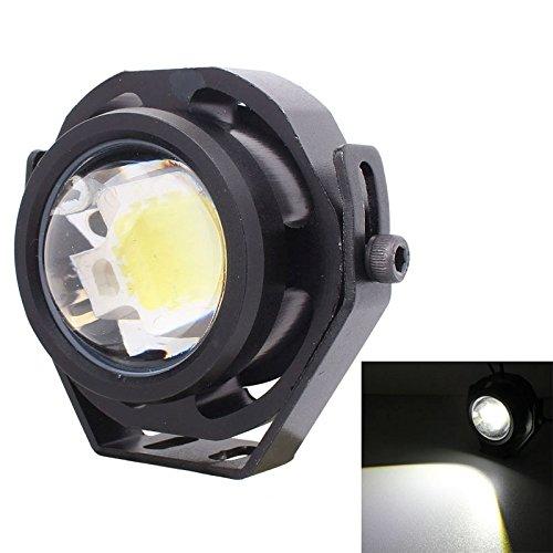 Lumière de brouillard de voiture pour BINODA, 10W 500LM Lumière Blanche 6500K COB LED Filaire Hexagone Eagle Eyes Lampe De Brouillard De Voiture, Longueur De Fil: 35cm, DC 12-24V (Color : Black)