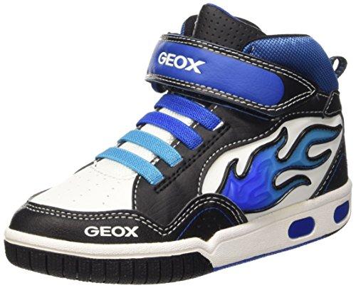 Geox Jr Gregg A Scarpe da ginnastica alte, bambino, Nero (Black/Royal C0245), 31