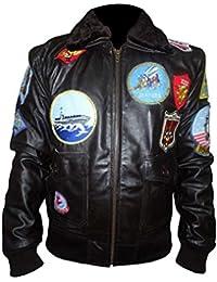 Top Gun Pete Maverick chaqueta negro caña