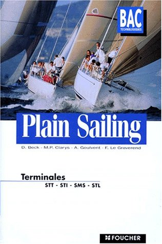 Plain sailing anglais, Terminale STT (Ouvrage)