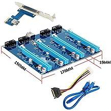 Espeedy PCI-E 16X Board,PCI-E X1 a 4PCI-E X16 Kit de expansión 1 a 4 puertos PCI Express Switch Multiplicador HUB Riser tarjeta para BTC Miner