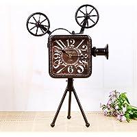 kinine Retro-proiettore e creativo monobraccio orologio orologio muto all'antica decorazione domestica