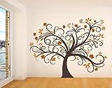 Bilderdepot24 Wandtattoo Zauberbaum XXL Baum: Größe: 1,70mbreit x 1,20m Hoch - Qualitätsware Direkt vom Hersteller