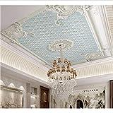 Weaeo Relief Parget Jade Blume 3D Decke Tapete Wandbild Für Wohnzimmer 3D Wand Decke Wandbild Wand Papier 3D Wandaufkle